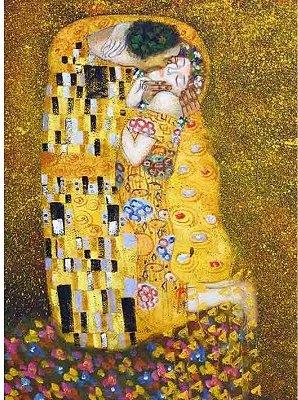 Puzzle  DToys-66923-KL01 Gustav Klimt: Der Kuss