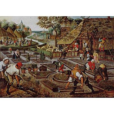 Puzzle  DToys-66947-BR01 Brueghel: Frühling