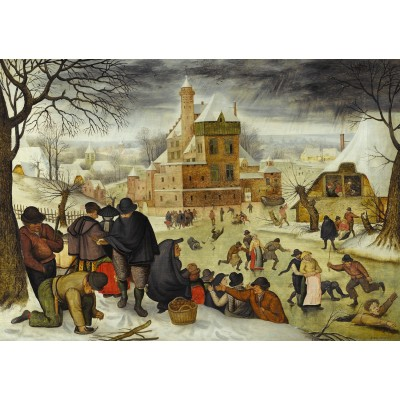 Puzzle DToys-66947-BR04-(70005) Brueghel: Winter