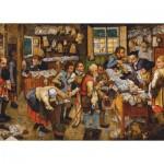 Puzzle  Dtoys-66947-BR06-(74942) Brueghel Pieter der Jüngere: Bezahlung des Zehnten, 1617-1622