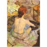 Puzzle  DToys-66961-IM07 Toulouse-Lautrec: Femme à sa toilette