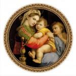 Puzzle  DToys-66985-TM03-(69771) Botticelli: Madonna della Seggiola