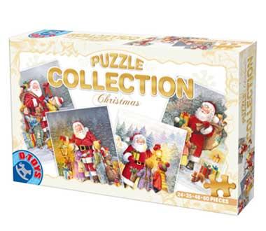 Puzzle  Dtoys-67340-XM-01 Der Weihnachtsmann und die Kinder