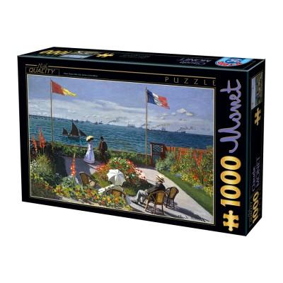 Puzzle  Dtoys-67548-CM07-(74577) Claude Monet - Terrasse à Sainte-Adresse, 1867