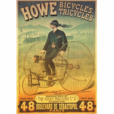 Puzzle  Dtoys-67555 Vintage Posters: Howe Tricyles