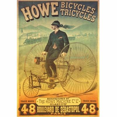 Puzzle Dtoys-67555 Vintage Posters: Howe Tricyles