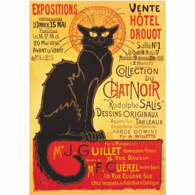 Puzzle DToys-67555-VP09 Vintage Posters: Plakat Hotel Drouot Auktion