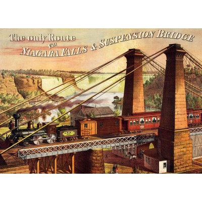 Puzzle  Dtoys-67555-VP19-(74966) The only Route via Niagara Falls & Suspension Bridge
