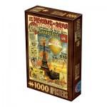 Puzzle  Dtoys-67555-VP20-(74591) Vintage Poster - Paris