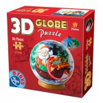 Dtoys-67609-GP-02 3D Globus Puzzle - Weihnachtsmann mit Schlitten
