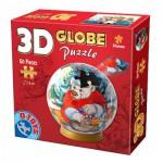 Dtoys-67609-GP-03 3D Globus Puzzle - Weihnachten