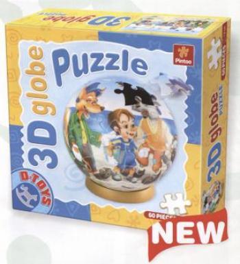Dtoys-67814 3D Globus Puzzle - Pinocchio