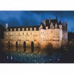Puzzle  DToys-69535 Französisches Schloss: Château de Chenonceau