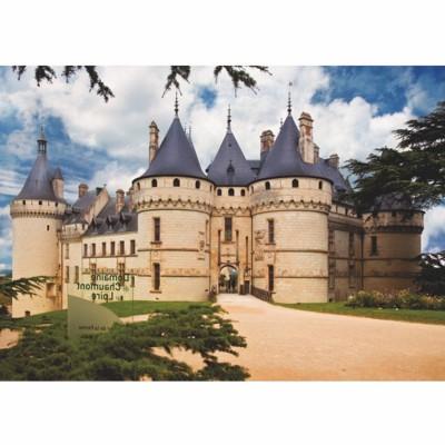 Puzzle  DToys-69542 Französisches Schloss: Château de Chaumont