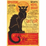 Puzzle  DToys-69566 Vintage Posters: Plakat Hotel Drouot Auktion