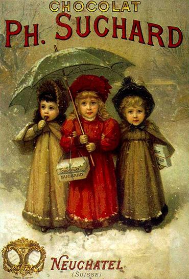 Puzzle  Dtoys-69610 Vintage Posters: Chocolats Ph. Suchard
