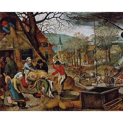 Puzzle DToys-70012 Brueghel: Herbst