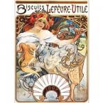 Puzzle  Dtoys-70098 Alphonse Mucha: Biscuits Lefèvre-Utile