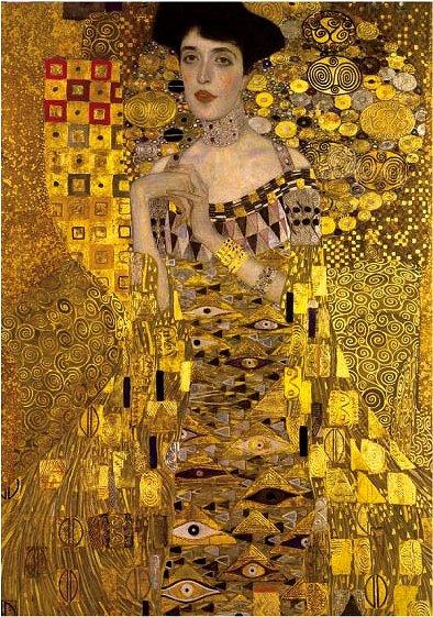 Puzzle  Dtoys-70128 Gustav Klimt: Adele Bloch (Detail)