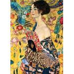 Puzzle  Dtoys-70159 Gustav Klimt: Frau mit Fächer