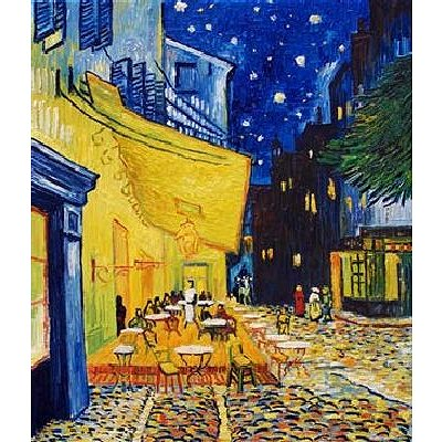 Puzzle DToys-70180 Van Gogh: Caféterrasse am Abend