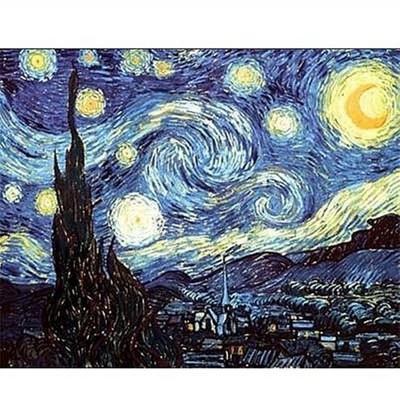 Puzzle Dtoys-70197 Van Gogh: Sternennacht