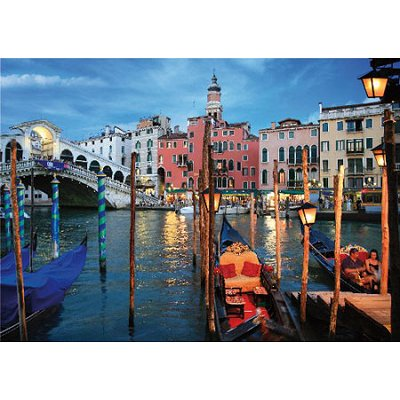 Puzzle  DToys-70555 Bei Nacht - Italien: Venedig