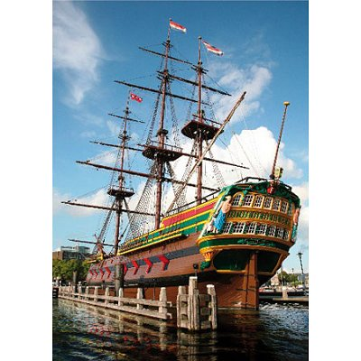 Puzzle  DToys-70630 Niederlande - Amsterdamer Hafen