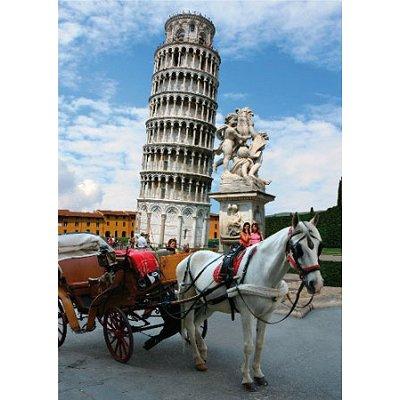 Puzzle  DToys-70647 Italien - Der schiefe Turm von Pisa