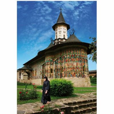 Puzzle  DToys-70760 Rumänien: Sucevita Kloster