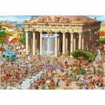 Puzzle  DToys-70883 Cartoon Collection: Akropolis, Griechenland