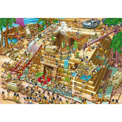 Puzzle  DToys-70890 Cartoon Collection: Pyramiden in Ägypten