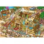 Puzzle  DToys-70890 Cartoon Collection: Pyramiden in Ägypten
