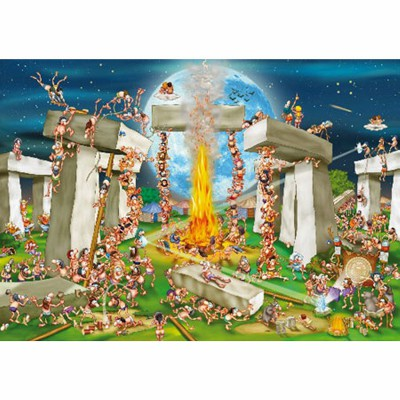 Puzzle  DToys-70906 Cartoon Collection: Stonehenge