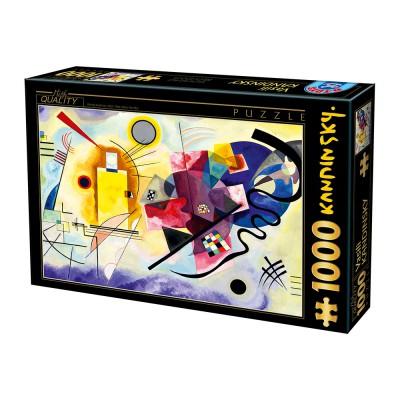Puzzle  Dtoys-72849-KA03 Kandinsky Vassily: Gelb-Rot-Blau