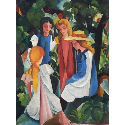 Puzzle  Dtoys-72863-MA01-(72863) August Macke: Vier Mädchen