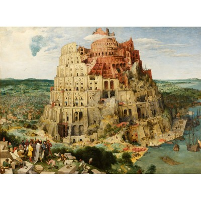 Puzzle  Dtoys-72900-BR01 Brueghel Pieter: Der Turmbau zu Babel, 1563