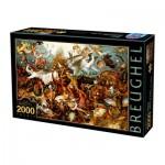 Puzzle  Dtoys-72900-BR02-(72900) Brueghel Pieter: Der Sturz der rebellierenden Engel, 1562