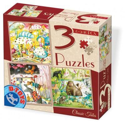 Dtoys-72924-EM-02 3 puzzles - Märchen
