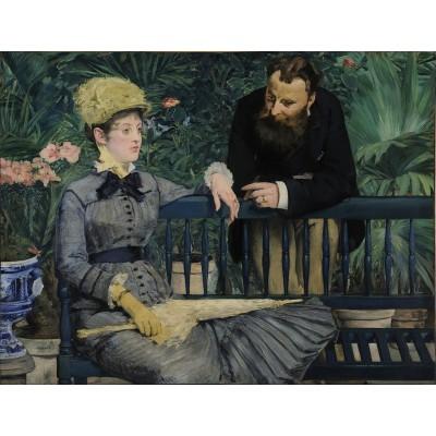 Puzzle  Dtoys-73068-MA03-(75239) Manet Édouard: Im Wintergarten, 1879