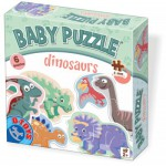 Dtoys-73075-BP-01 6 Puzzles - Baby Puzzle - Dino