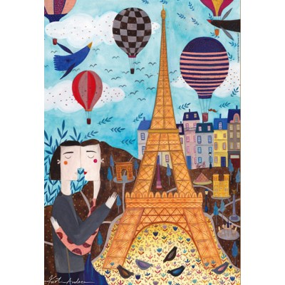 Puzzle  Dtoys-73730-CI01 Andrea Kürti: Paris