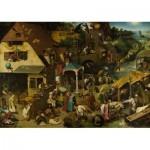 Puzzle  Dtoys-73778-BR01-(73778) Brueghel Pieter - Flämische Sprichwörter