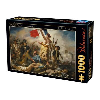 Puzzle  Dtoys-73808-DE01-(73808) Eugène Delacroix: Die Freiheit führt das Volk
