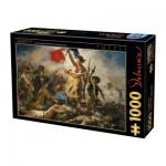 Puzzle  Dtoys-73808 Eugène Delacroix: Die Freiheit führt das Volk