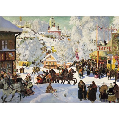 Puzzle  Dtoys-73846 Boris Kustodiev - Maslenitsa