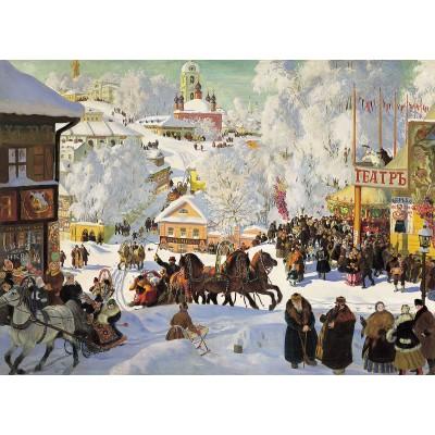 Puzzle Dtoys-73846-KU01 Boris Kustodiev - Maslenitsa