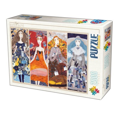 Puzzle  Dtoys-73860-KA02-(75819) Andrea Kürti - Seasons