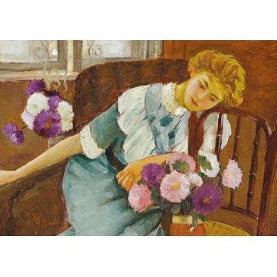 Puzzle Dtoys-73914 Stefan Luchian: Lorica mit Chrysanthemen