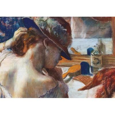 Puzzle  Dtoys-73938-DE01-(73938) Degas Edgar - Vor dem Spiegel